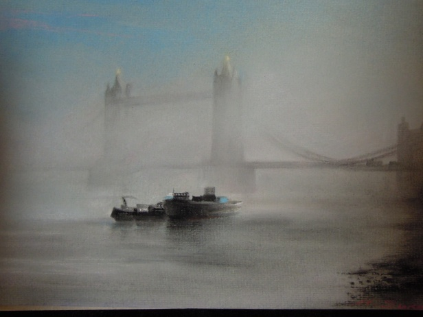 Pastel - Fog on The Thames